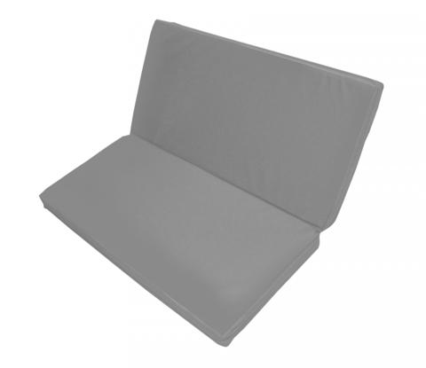 Мат гимнастический 1*1*0,08м складной цвет:серый (38990)