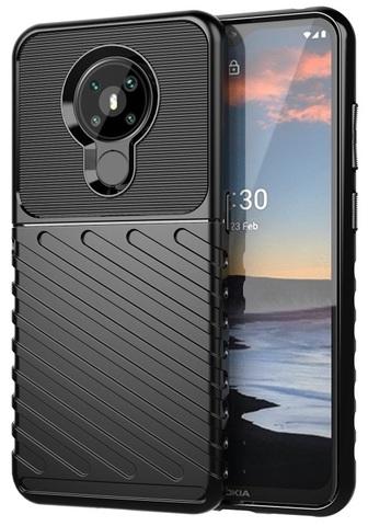 Защитный чехол на телефон Nokia 5.4, противоударный, черный цвет, серия Onyx от Caseport