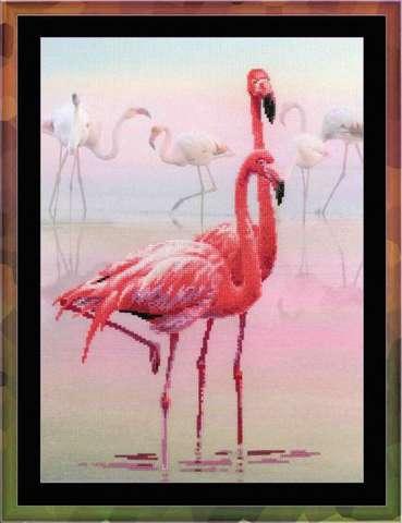 Набор для вышивания крестом «Фламинго» (0012 РТ)