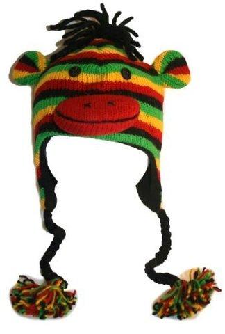 Картинка шапка с ушами Knitwits Sock Monkey  - 1