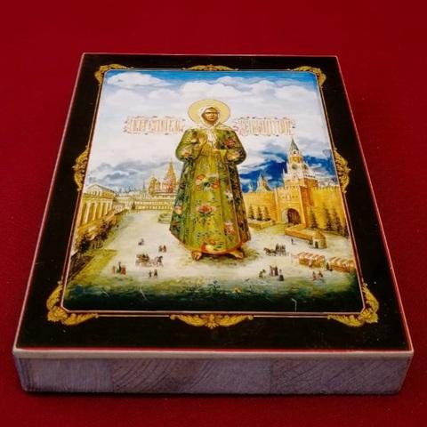 Икона святая Матрона Московская на дереве на левкасе мастерская Иконный Дом