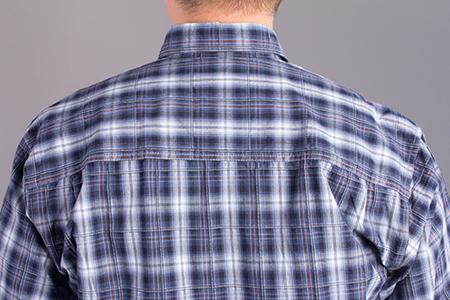 Лекала мужской рубашки с кокеткой на спинке