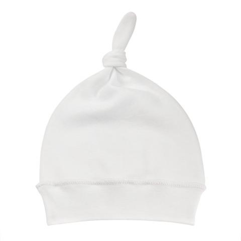 Детская шапочка с узелком экрю