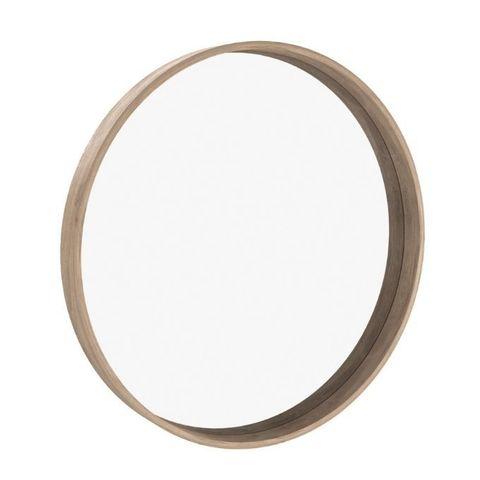 Зеркало круглое Иконс 90 (беленый дуб)