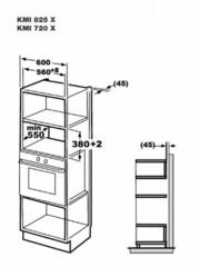 Микроволновая печь Korting KMI 825 XN - схема