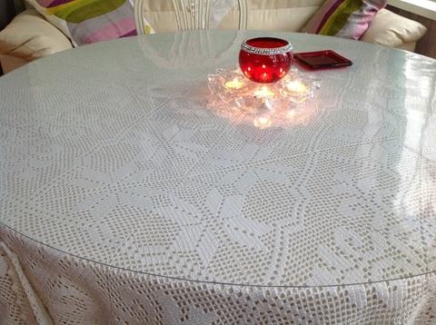Скатерть круглая прозрачная  107 см 1 мм