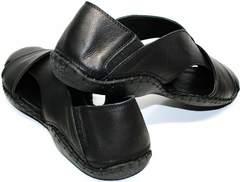Модные мужские сандали Luciano Bellini 801 Black.