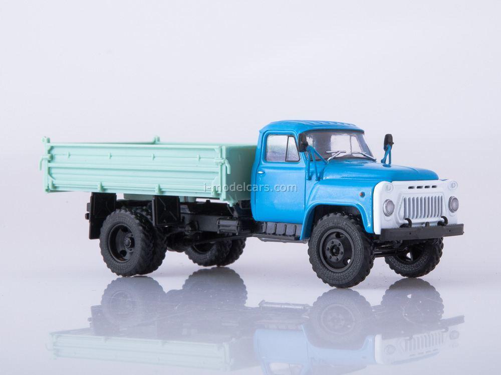 Scale truck model 1:43 GAZ-53 SAZ-3507 blue//grey