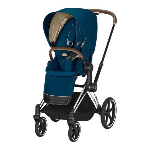 Прогулочная коляска Cybex Priam III Mountain Blue Chrome
