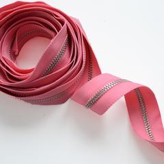 Молния металлическая №5, Розовый, цена за 10 см.