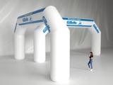 Надувная арка Трапеция рекламная