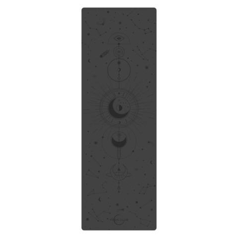 Каучуковый йога коврик Pro Munari Black 185*68*4,5 см