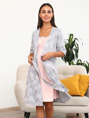 Мамаландия. Комплект для беременных и кормящих, серый с розовым