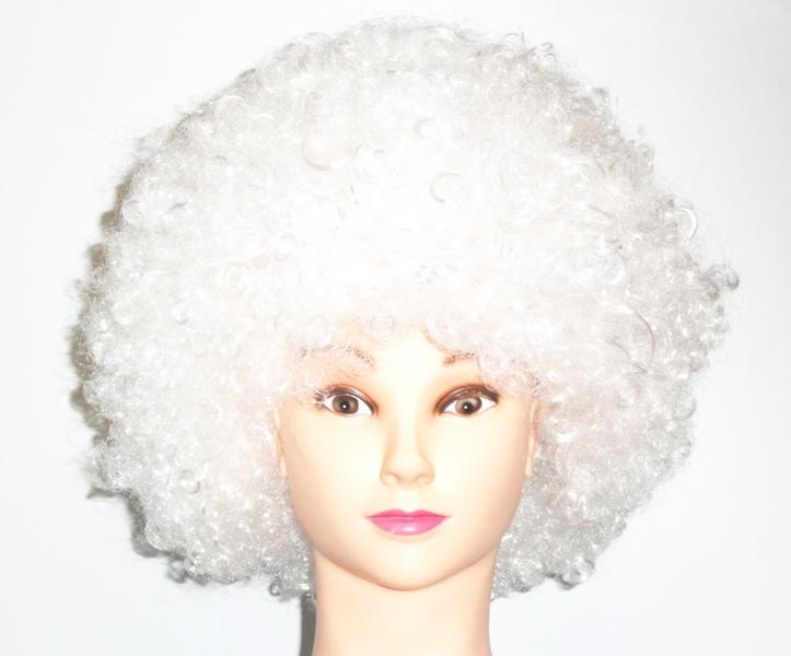 парик клоуна белый