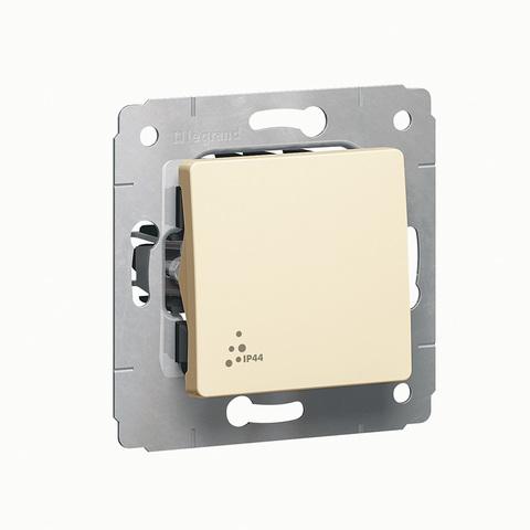 Выключатель одноклавишный IP 44 - 10 AX - 250 В~. Цвет Cлоновая кость. Legrand Cariva (Легранд Карива). 773709