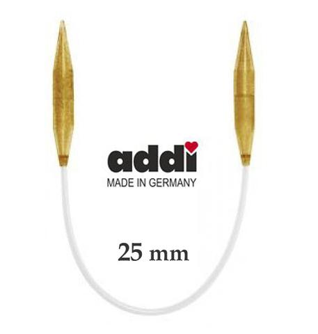 Спицы Addi  пластиковые круговые с гибкой леской 100 см, 25 мм