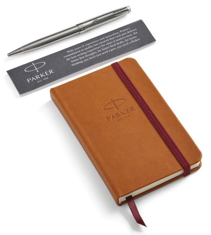 Набор подарочный Parker Sonnet - Stainless Steel CT, шариковая ручка + блокнот