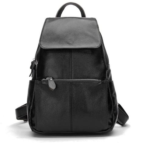 Женский кожаный рюкзак Zency Black