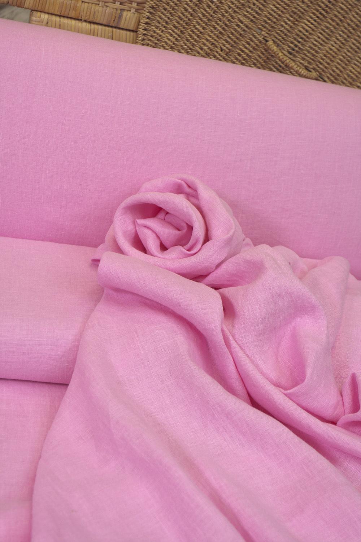 Лен смягченный, цвет ярко-розовый