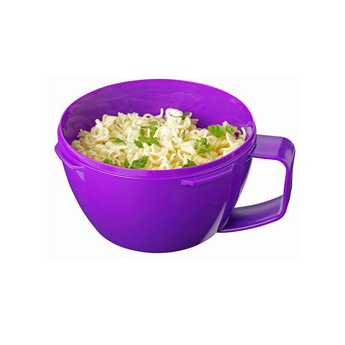 """Кружка для приготовления лапши в СВЧ Sistema """"Microwave"""" 940 мл, цвет Фиолетовый"""