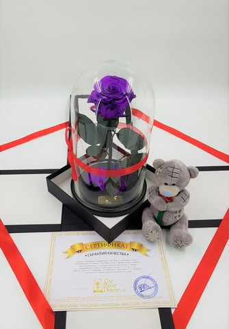 Комплект подарочный Premium Оптом (Выс*Диам*Бутон 27*15*7-8см)Цвет фиолетовый