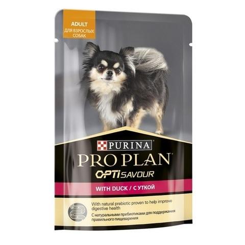 Pro Plan Влажный корм для взрослых собак мелких и карликовых пород, с уткой в соусе, 85 г