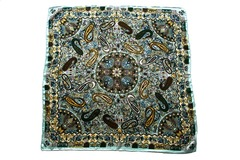 Итальянский платок из шелка черный с орнаментом 5051