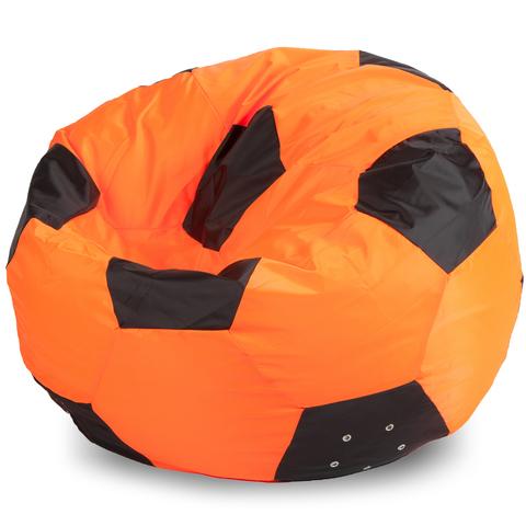 Кресло-мешок мяч  L, Оксфорд Оранжевый и черный