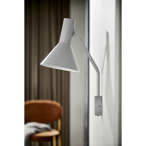 Лампа настенная Lyss, светло-серая матовая