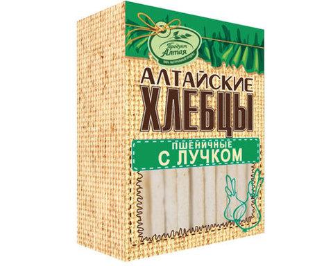 Хлебцы Алтайские пшеничные с лучком 75г