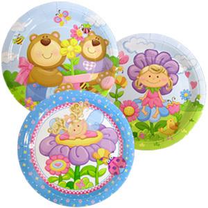 Тарелки бумажные ламинированные Детская коллекция 23см 6шт