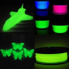Набор светящегося пластика PLA 50 метров (5 цветов по 10 метров)