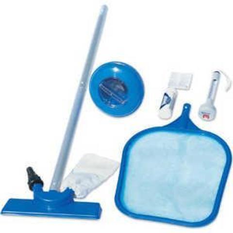 Набор д/ухода за бассейном (в компл:сачок,вакуум.щетка,дозатор,термометр,тест,ремкомплект,ручка 1,72