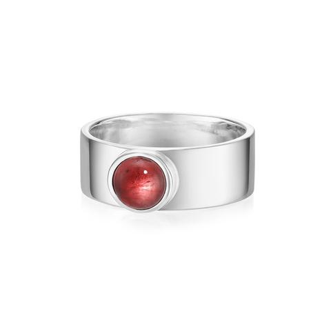 Кольцо THETA - Красный гранат