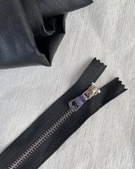 Молния металлическая никель №3, 18см, черный