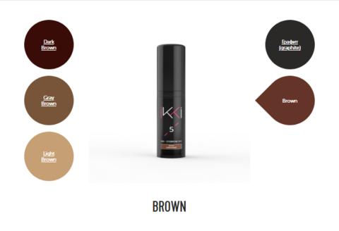 Гель-краска для бровей IKKI во флаконе (№5 коричневый) 5мл