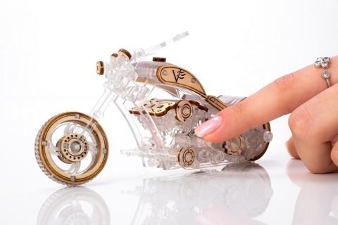 Chopper-V1 от Veter Models - Деревянный байк, конструктор, сборная модель, 3D пазл