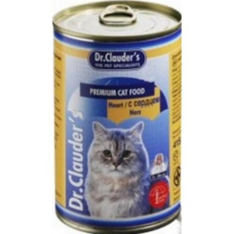 Др.Клаудер кон.д/кошек Кусочки в соусе Сердце 415гр*20