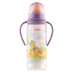 Lubby. Бутылочка Веселые животные с соской и ручками 250 мл
