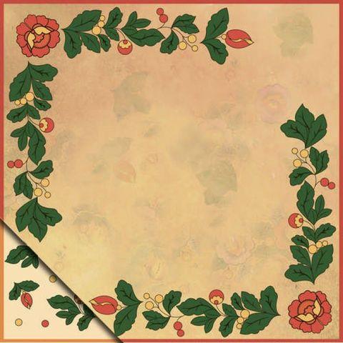 Бумага для скрапбукинга Полховско-майданская роспись Роза