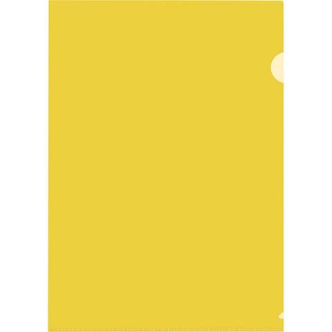 Папка-уголок Attache A4 желтая 150 мкм (10 штук в упаковке)