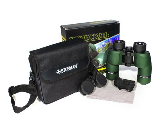 Бинокль Sturman 10x36 зелёный - фото 4