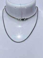 Снейк пустотелый восьмигранный(серебряная цепочка)