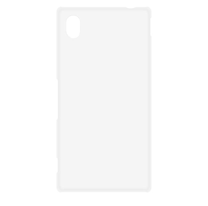 Пластиквая накладка Brosco дя Xperia M4 Aqua белого цвета