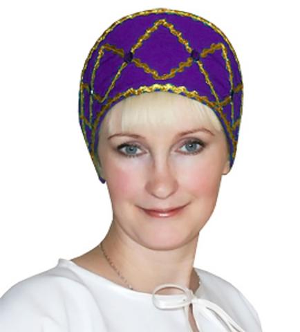 Кокошник Дарья фиолетовый