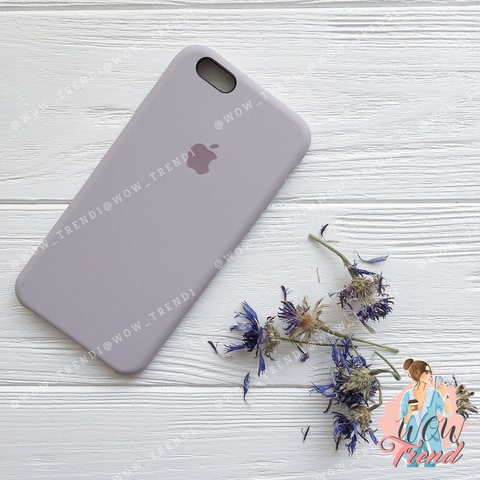 Чехол iPhone 6+/6s+ Silicone Case /lavender/ лаванда 1:1
