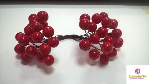 Рябина на ветке, цвет красный (упаковка 20 штук)