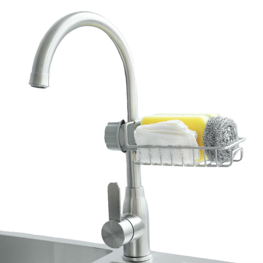 Аксессуары для ванной комнаты Регулируемый держатель для губки на смеситель Dry Rack reguliruemyy-derzhatel-dlya-gubki-na-smesitel-dry-rack.jpg