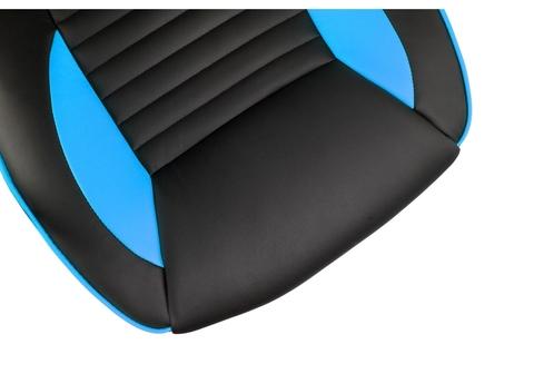 Офисное кресло для персонала и руководителя Компьютерное Leon черное / голубое 68*68*128 Черный / голубой