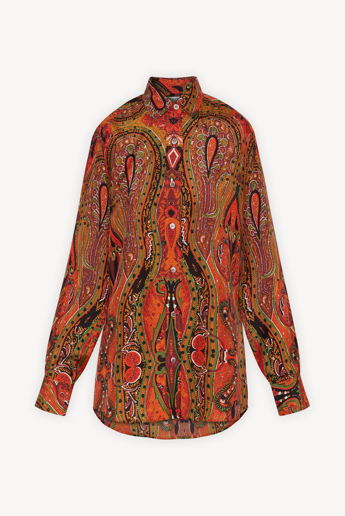 Шелковая блуза с принтом